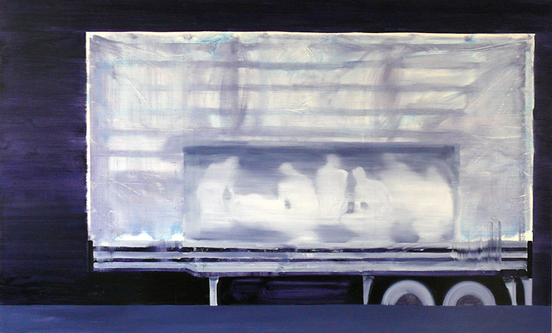 Cabin Fever, 2008 - 170 x 280 cm, oil on cotton