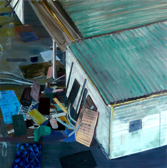 Detention Centre, 2007 - 200 x 200 cm, oil on canvas