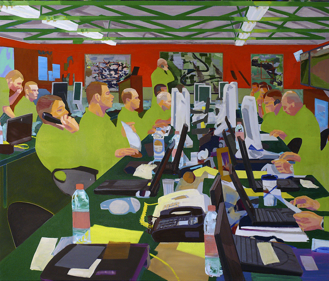 Headquarters, 2011 - 180 x 200 cm, oil on canvas