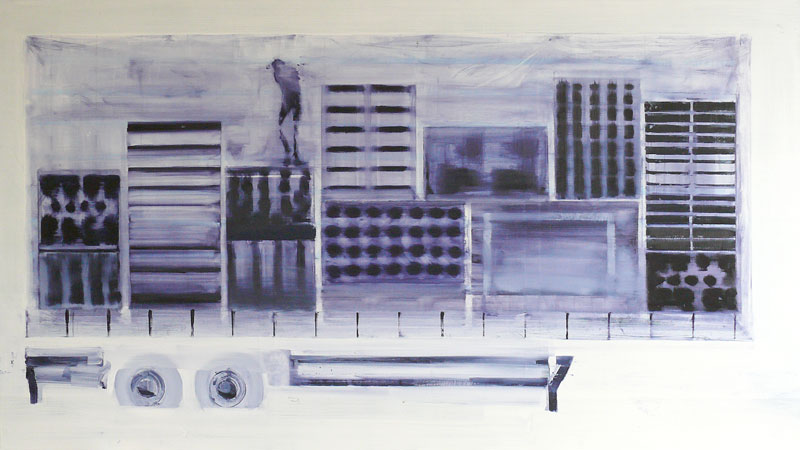 Ghost, 2008 - 170 x 300 cm, oil on cotton