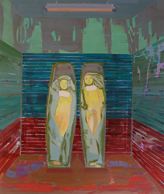 Couple, 2010 - 200 x 170 cm, oil on cotton